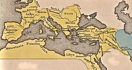 1st Century World Map.The Trial Of Jesus Selected Maps