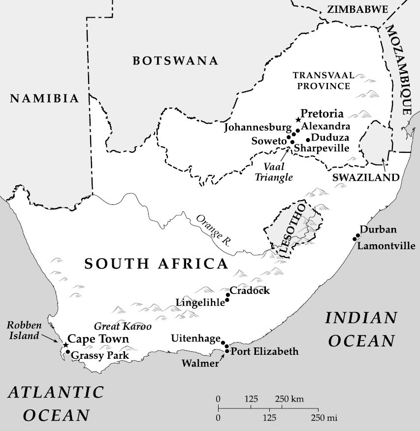 The Trial of Nelson Mandela: Selected Maps: South Africa