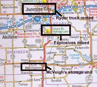 Maps Relating to the Oklahoma City Bombing