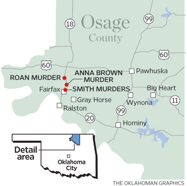 Maps Of Osage County Murder Locations
